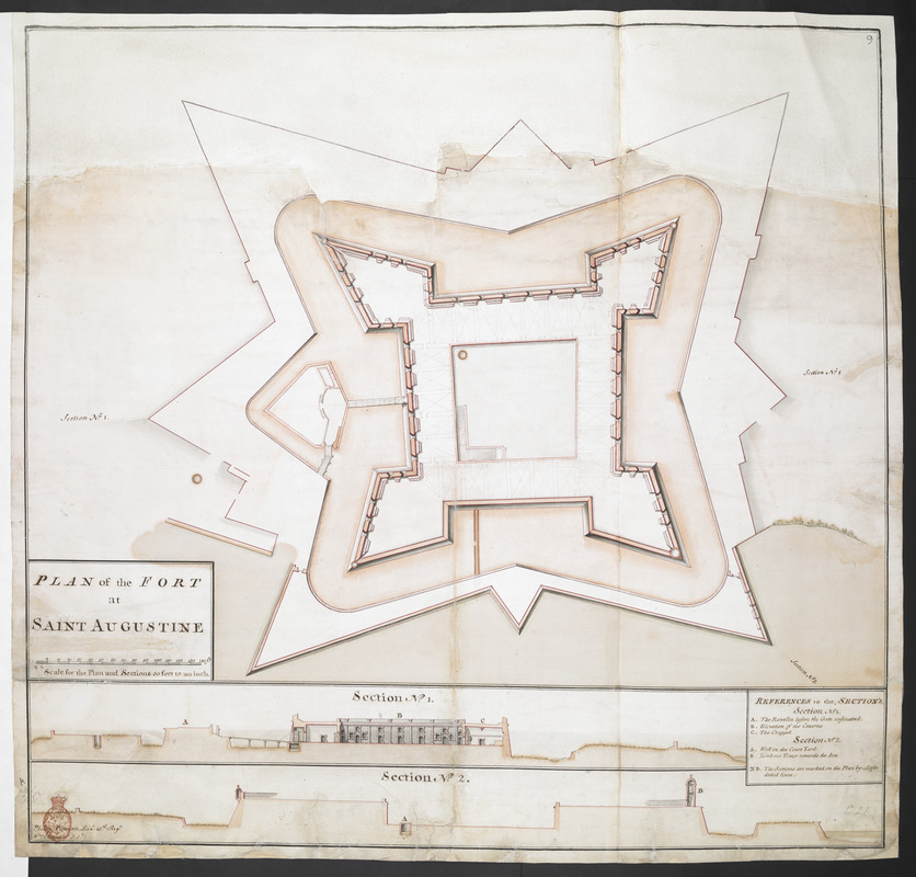 PLAN of the FORT at SAINT AUGUSTINE
