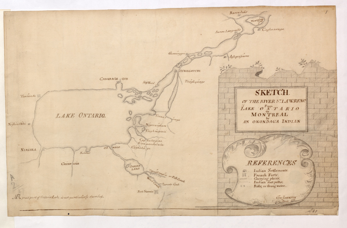 SKETCH OF THE RIVER S.T LAWRENCE From LAKE ONTARIO to MONTREAL by AN ONONDAGA INDIAN