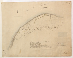 Plan of the Battery on the South Shore Erected against Fort Levy on the 21. of August 1760