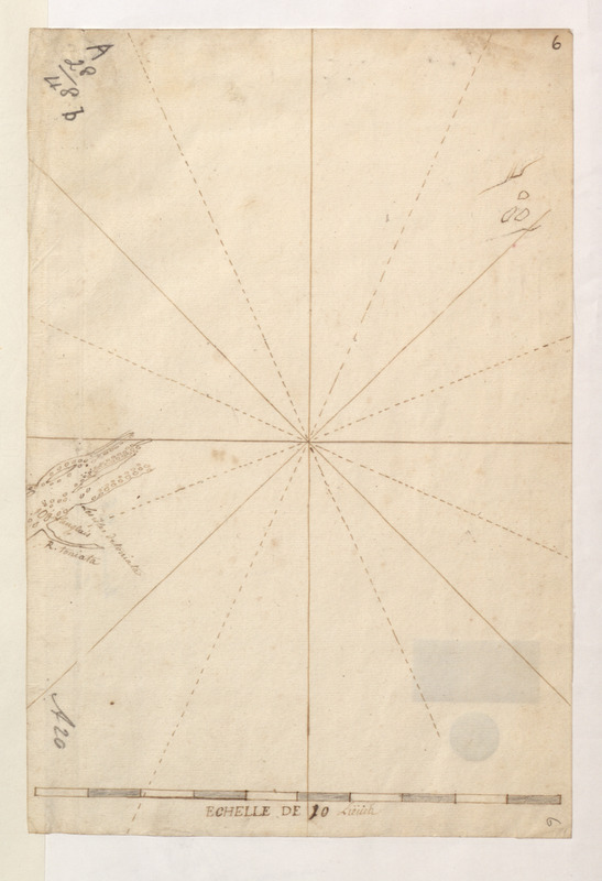 [Sketch map of the St Lawrence River at River Toniata]