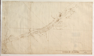 [Sketch map of the St Lawrence River from the Fort de la Présentation to Lake Ontario]