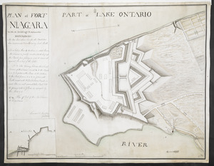 PLAN of FORT NIAGARA With its Buildings & outworks