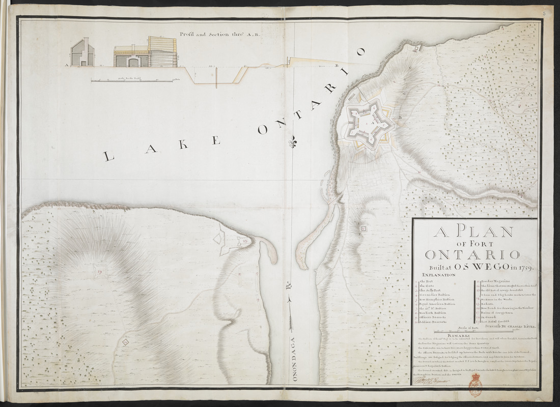 A PLAN OF FORT ONTARIO Built at OSWEGO in 1759