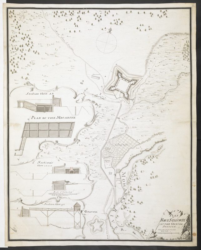 PLAN OF FORT STANWIX AT THE ONNIDE STATION Done by a Scale of 150 Feet to one Inch