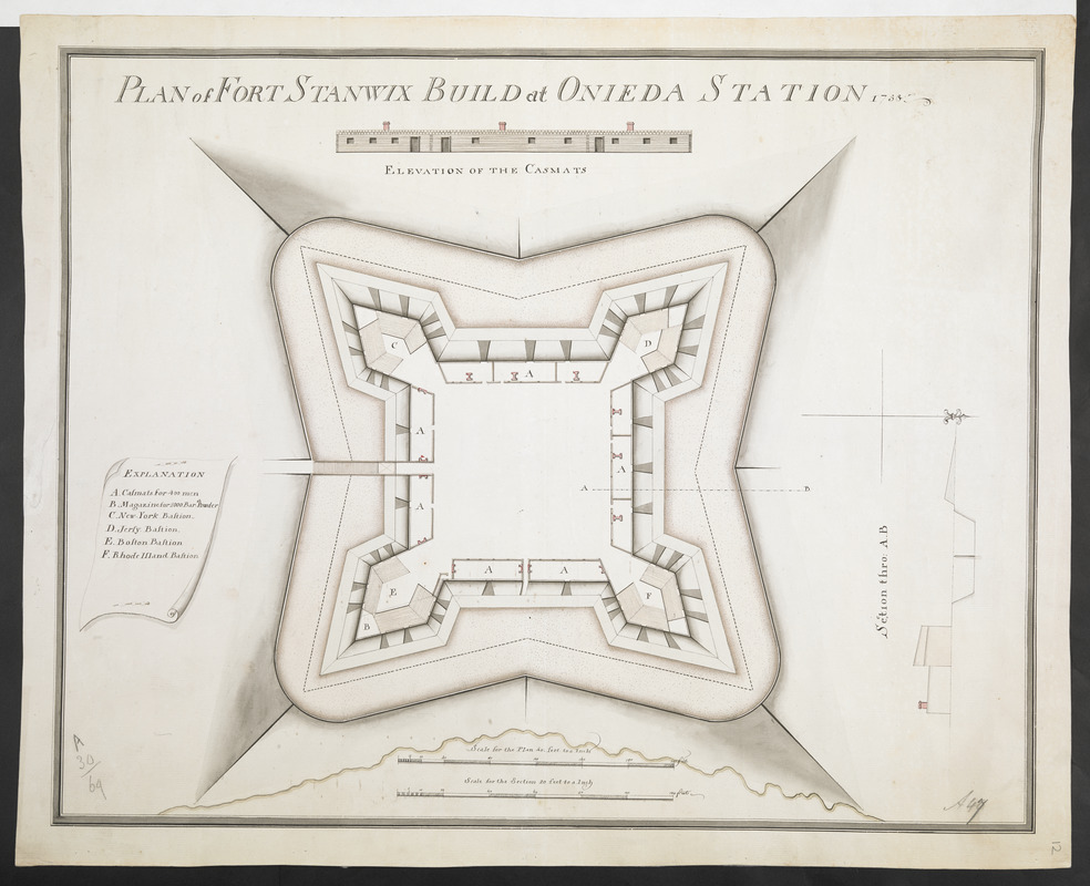 PLAN of FORT STANWIX BUILD at ONIEDA STATION 1758