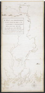 A PLAN OF THE RIVER KENNEBECK AS IT WAS SVRVEYED BY ORDER OF THE GOVERNMENT OF MASSACHUSETS BAY IN THE YEAR MDCCLXI From the Falls above FORT HALIFAX unto the Place where the Surveyor Mr John Small was killed, from his field book, with the addition of the lower part of the River, by Fra Miller Lieut