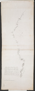 Plan of Part of Black River & Part of Otter Creek with the Distances by Computation
