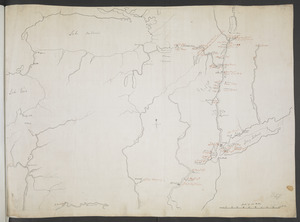 [Map showing rivers and forts in North America]
