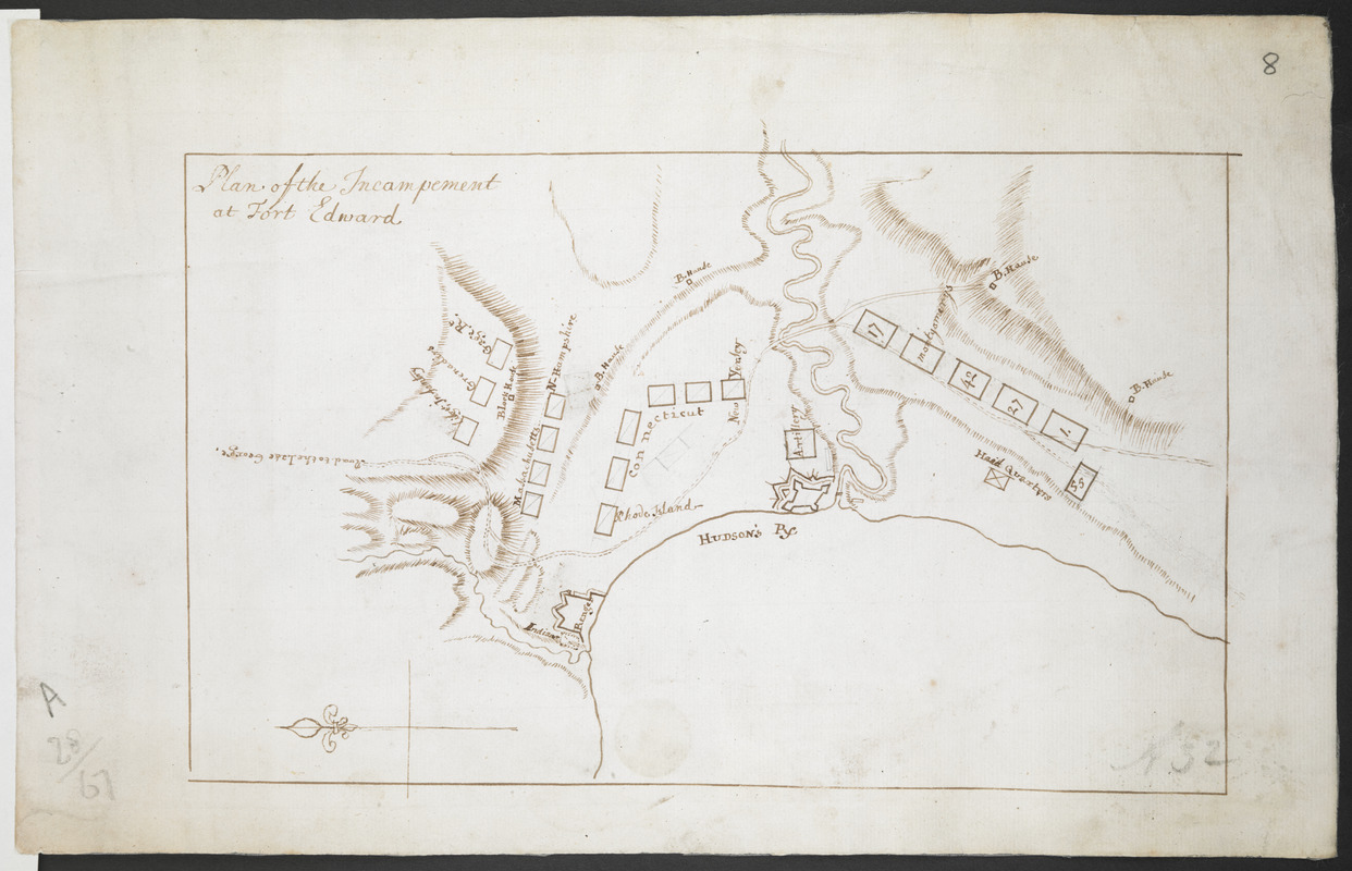Plan of the Incampement at Fort Edward