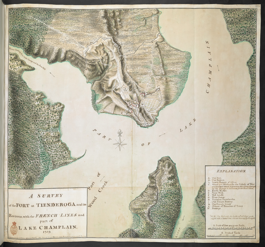A SURVEY of the FORT at TIENDEROGA and its Environs, with the FRENCH LINES and part of LAKE CHAMPLAIN 1759