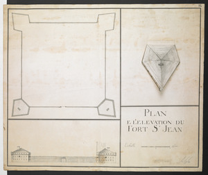 PLAN E L'ELEVATION DU FORT S.T JEAN