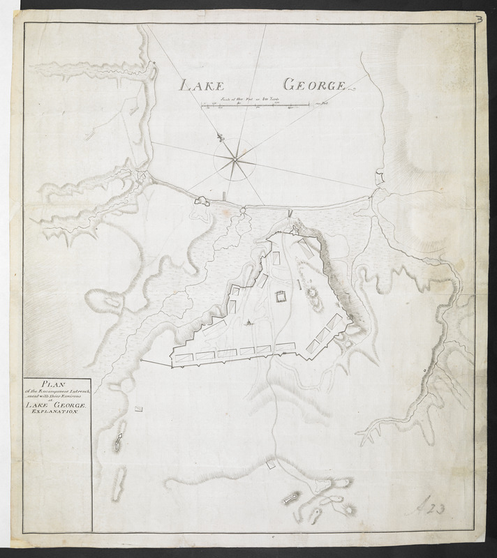 PLAN of the Encampment Intrenchment with thier Environs at LAKE GEORGE