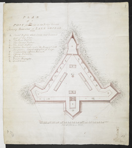 PLAN of a POST for 430 men on the Rocky Ground formerly Retrenched at LAKE GEORGE 1759
