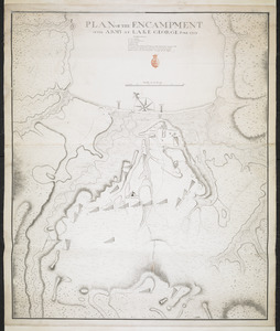 PLAN OF THE ENCAMPMENT OF THE ARMY AT LAKE GEORGE JUNE 1759