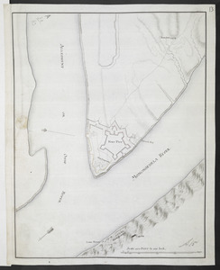 [Map showing Fort Pitt, Fort Duquesne and Fort Mercer]
