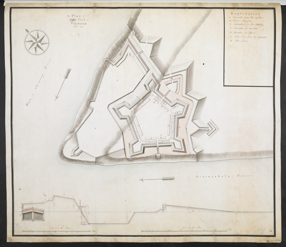 A Plan of Pitts Fort at Pittsburgh. Oct.r 1759