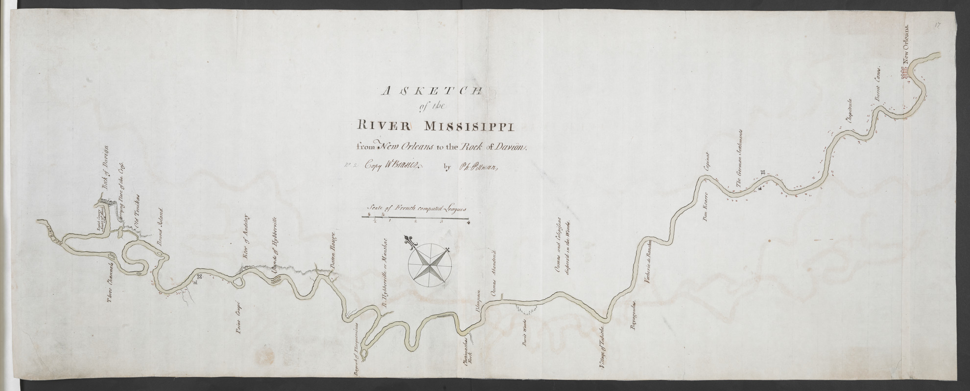 A SKETCH of the RIVER MISSISIPPI from New Orleans to the Rock of Davion