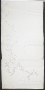 [Map showing military locations from Fort Cumberland on the River Potomac to Fort Presqu'Isle on Lake Erie]