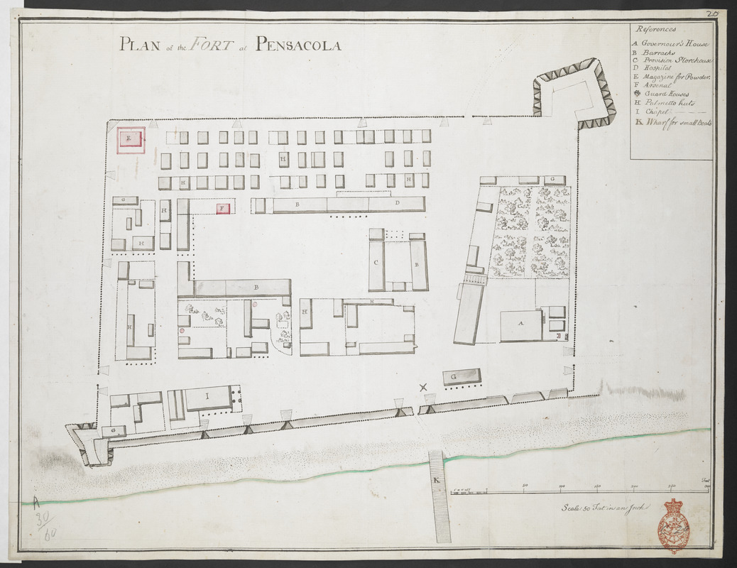 PLAN of the FORT at PENSACOLA