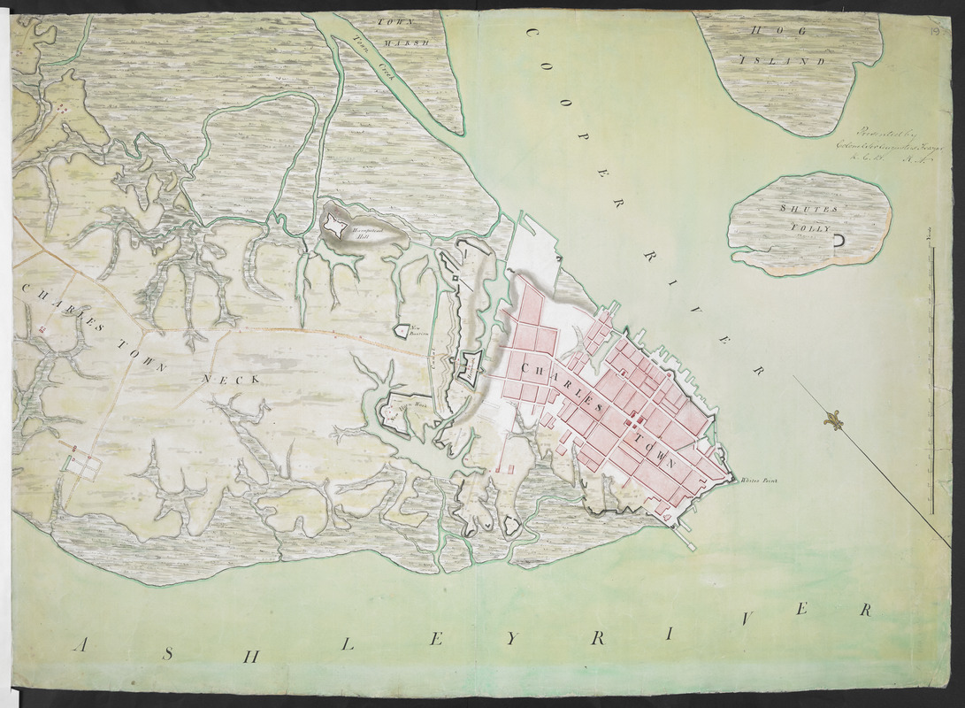 [Charles Town Neck Exhibiting the Plan of the Town and all the Fortifications in December 1781]