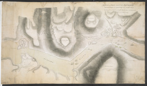 SKETCH of FORTS CLINTON & MONTGOMERY Stormed 6.th October 1777 by the Troops under the Command of Sir Henry Clinton K.B. L.t General of His Majesty's forces and Commander in Chief of NEW YORK and its Dependencies