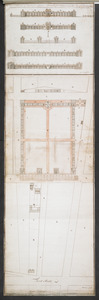 Plans & Sections of Houses for Officers & Barracks for Soldiers near the City of Philadelphia