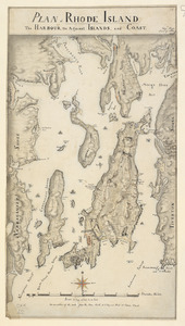 PLAN of RHODE ISLAND, the HARBOUR, the Adjacent ISLANDS, and COAST