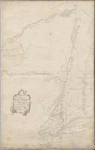 A MAP OF THE PROVINCE OF NEW-YORK, & PART OF NEW ENGLAND WITH A PART OF NEW FRANCE the whole Composed from Actual Surveys
