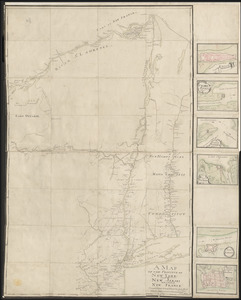 A MAP OF THE PROVINCE OF NEW-YORK, PART OF NEW JERSEY with a Part of NEW FRANCE Composed from Actual Surveys