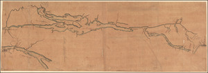 [A map of Lake Champlain and Lake George, showing the route from Fort Edward to Montreal]