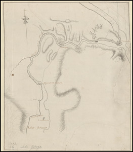 [A map showing the northern part of Lake George and Fort Ticonderoga]