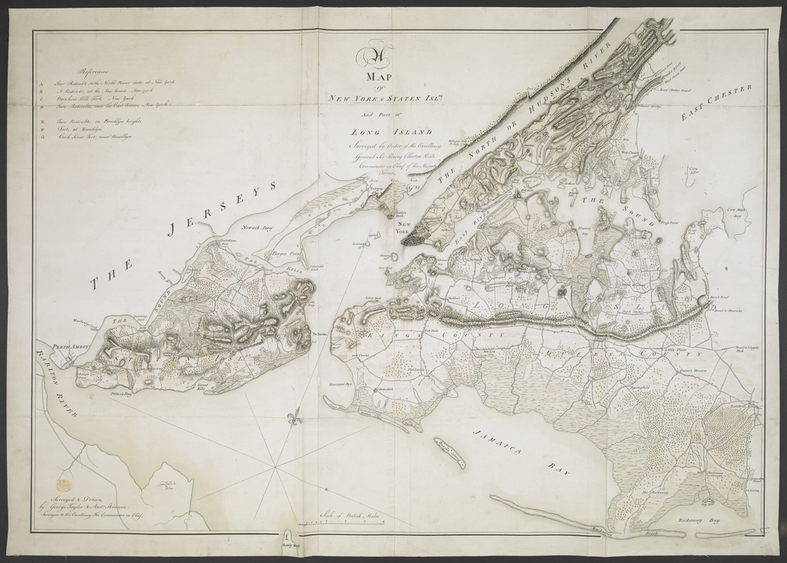 A MAP of NEW YORK, & STATEN ISLDS; And part of LONG ISLAND