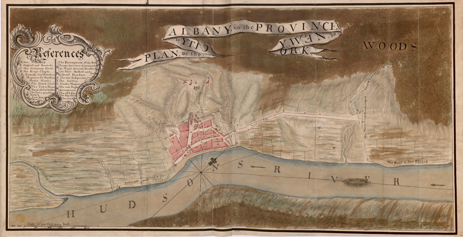 PLAN, of the CITY, of ALBANY, in the PROVINCE, of, NEW, YORK