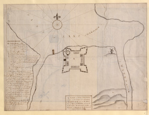 A PLAN of FORT FREDERIC situate on the South Side of LAKE CHAMPLAIN and on the West Side of Wood CREEK built within the bounds of the Province of New York by the French anno Domini 1731/32