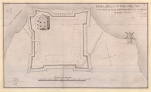Crown Point or S.t Frederick's Fort at the Head of Lake Champlain and the Mouth of Wood Creek