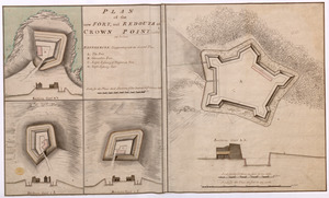 PLAN of the new FORT, and REDOUTS at CROWN POINT, called as below
