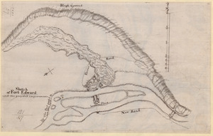 Sketch of Fort Edward and the proposed improvements