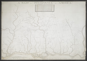 A MAPP OF PENSYLVANIA IN AMERICA