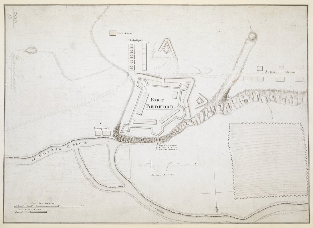 [Fort Bedford, on the Juniata Creek]