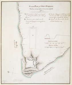 Rough PLAN of FORT DUQUESNE such as it was before it was demolish'd 1758
