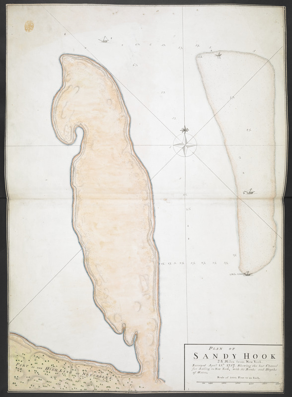 PLAN OF SANDY HOOK 28. Miles from New York