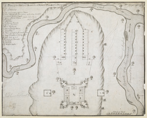 A Plan of the Fort and Barracks at Mount Pleasant in Maryland
