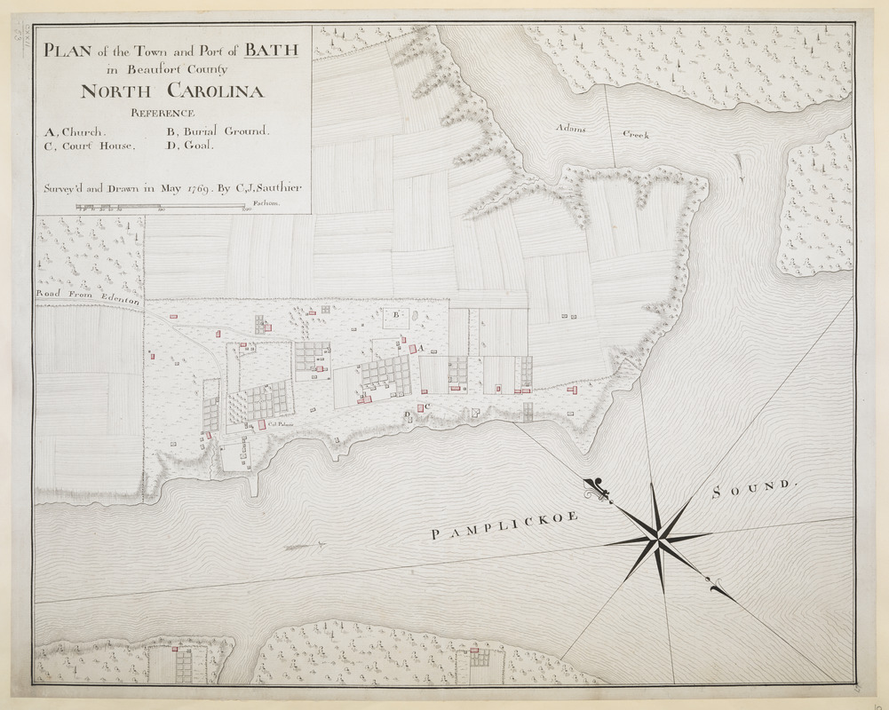 PLAN of the Town and Port of BATH in Beaufort County NORTH CAROLINA