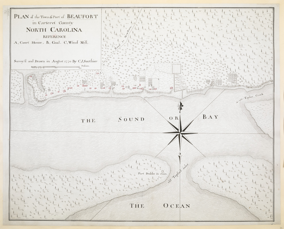 PLAN of the Town & Port of BEAUFORT in Carteret County NORTH CAROLINA