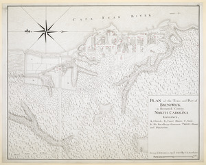 PLAN of the Town and Port of BRUNSWICK in Brunswick County. NORTH CAROLINA