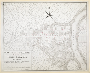 PLAN of the Town of HALIFAX in Halifax County. NORTH CAROLINA