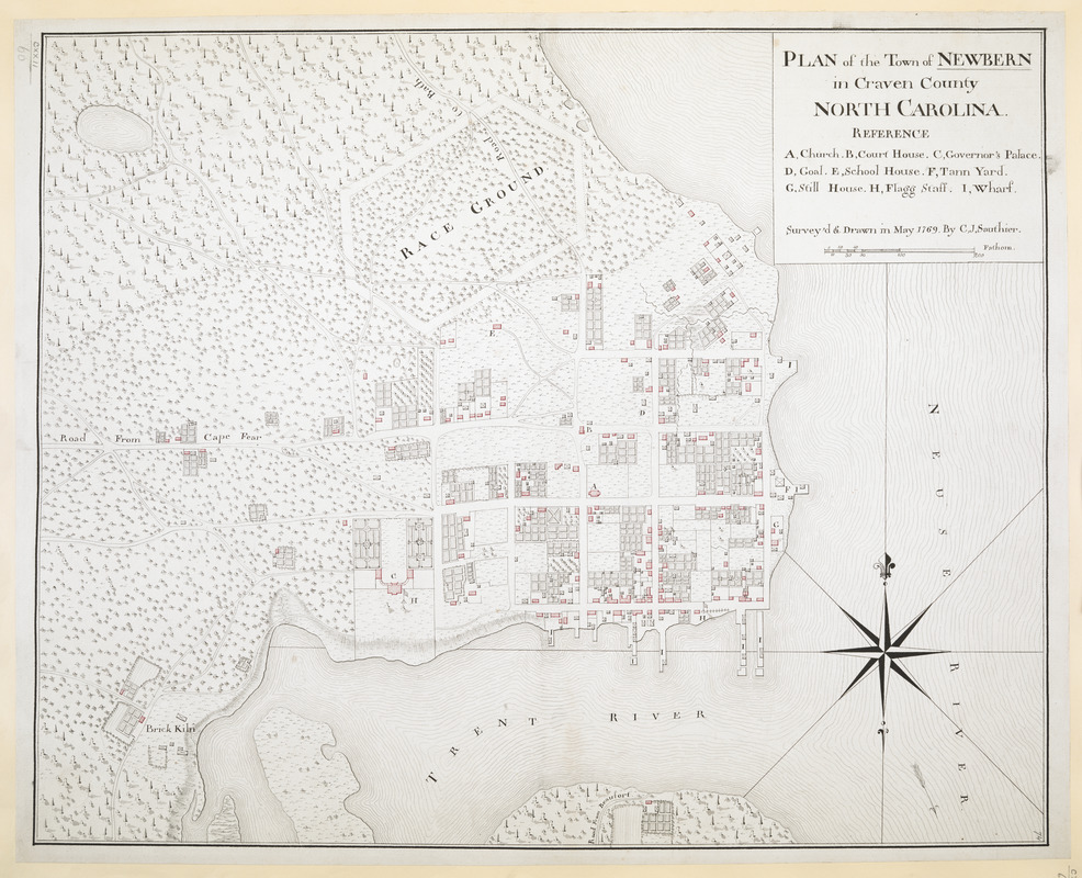Plan of the town of newbern in craven county north carolina plan of the town of newbern in craven county north carolina sciox Image collections