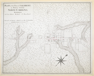 PLAN of the Town of SALISBURY in Rowan County. NORTH CAROLINA