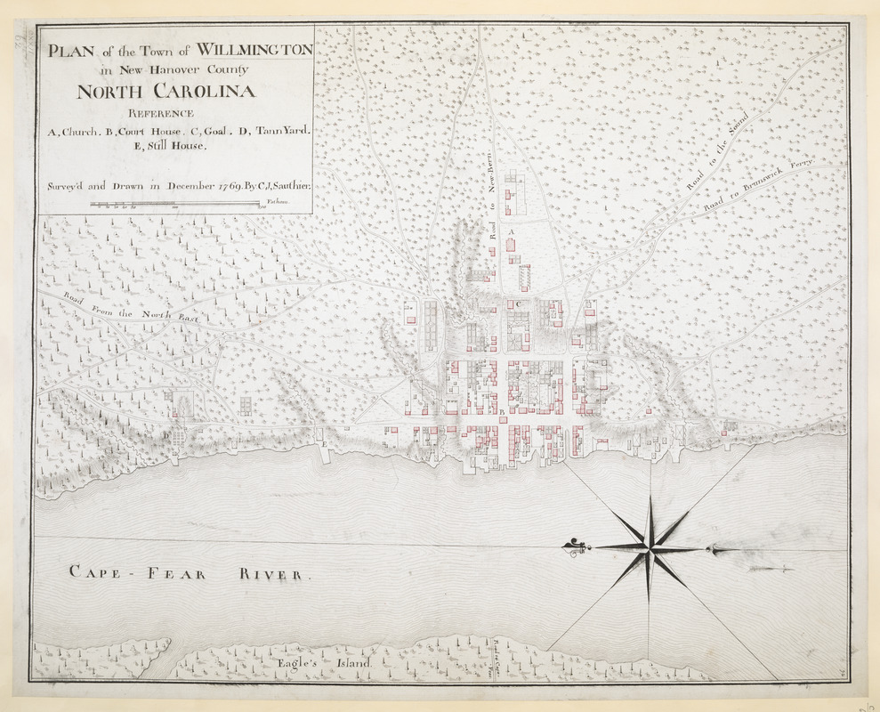 PLAN of the Town of WILLMINGTON in New Hanover County NORTH CAROLINA