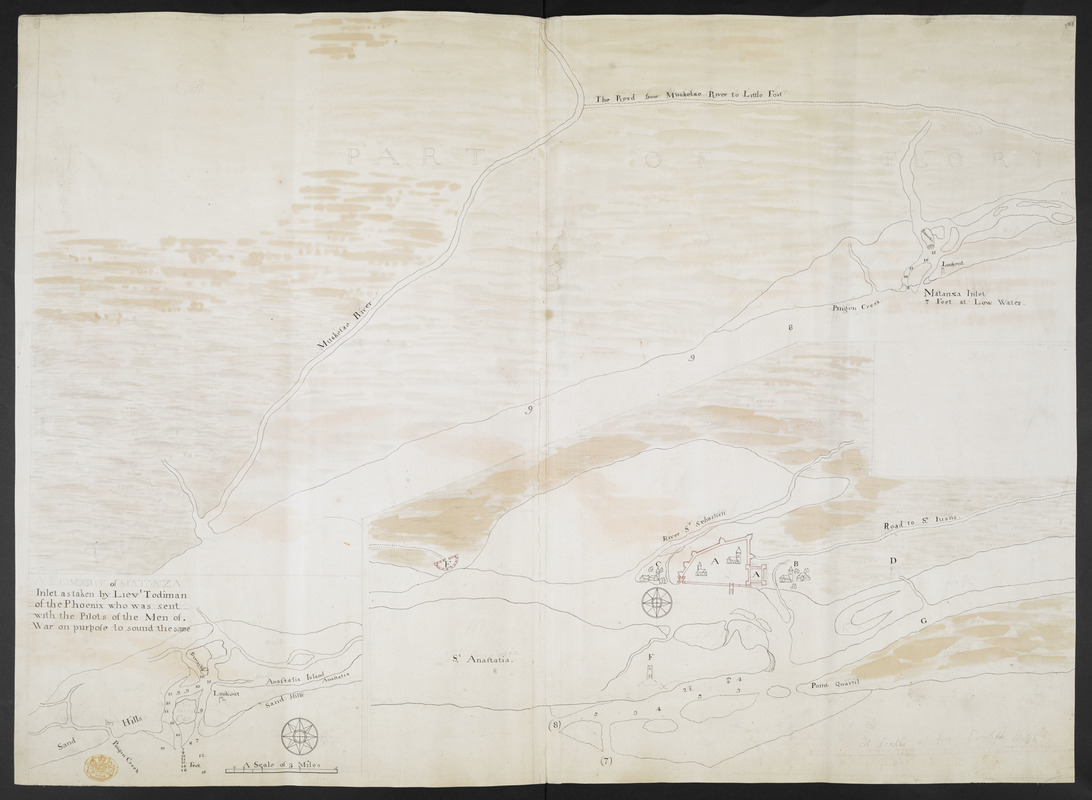 Map Of The Coast Of Florida From Fort William To Musketae River - Florida coast map